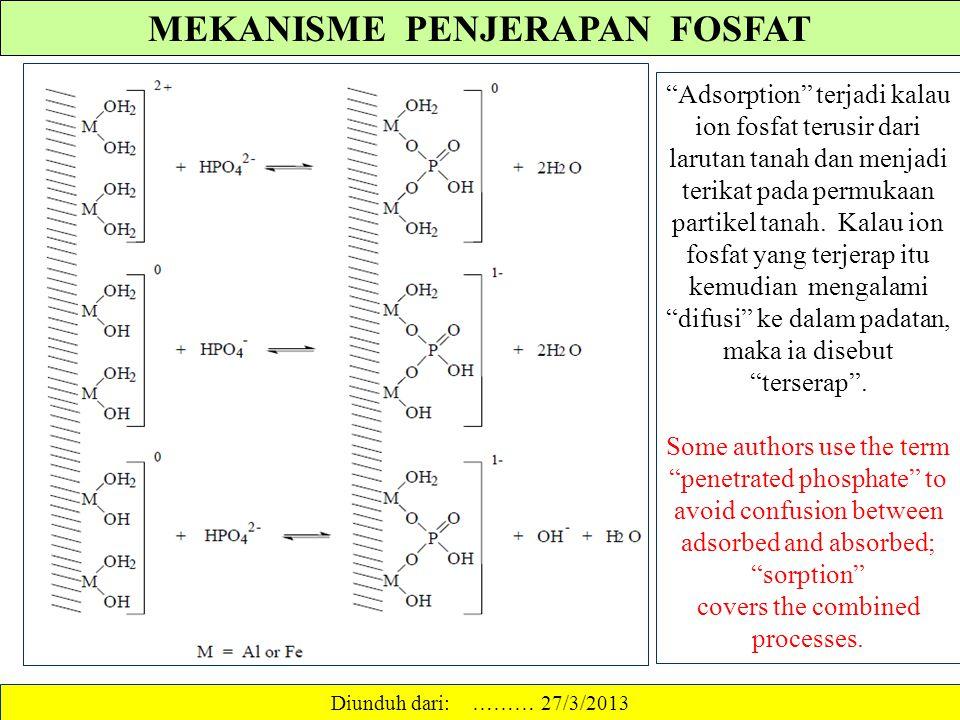 MEKANISME PENJERAPAN FOSFAT