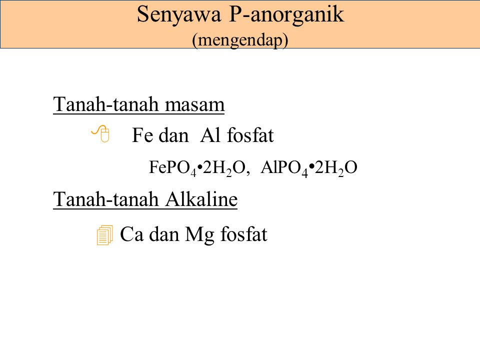 Senyawa P-anorganik (mengendap)