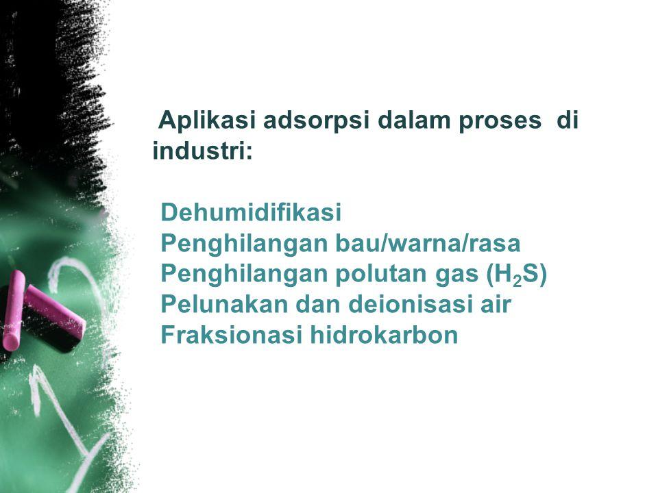 Penghilangan bau/warna/rasa Penghilangan polutan gas (H2S)