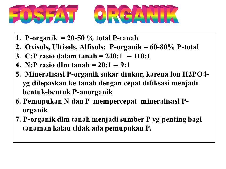 FOSFAT ORGANIK 1. P-organik = 20-50 % total P-tanah