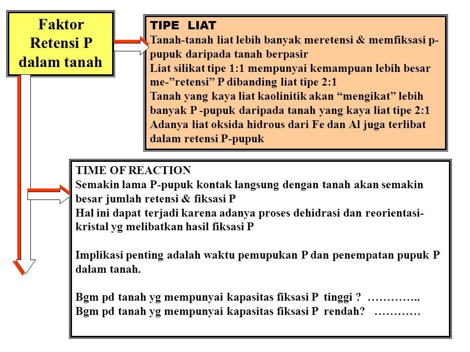 Faktor Retensi P dalam tanah