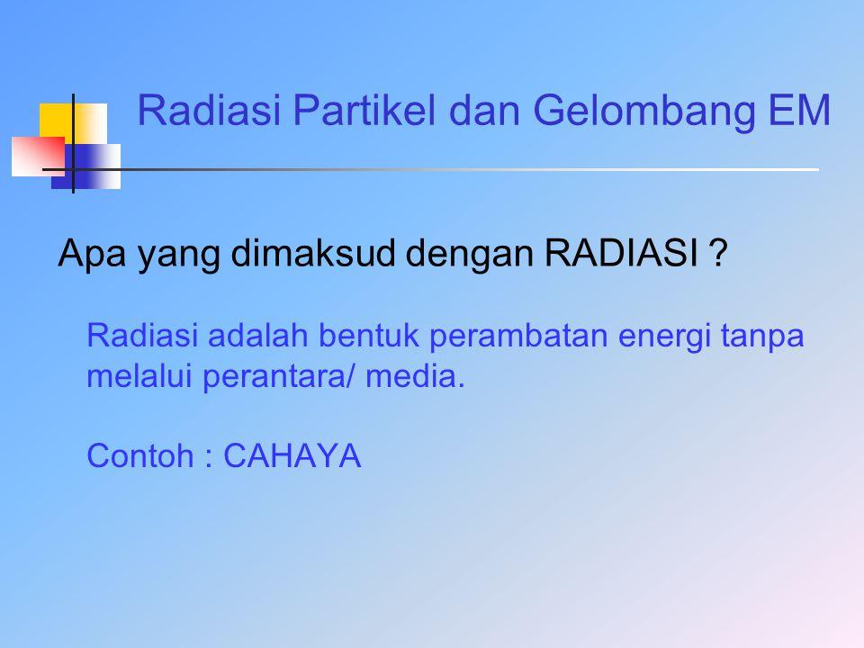 Radiasi Partikel dan Gelombang EM