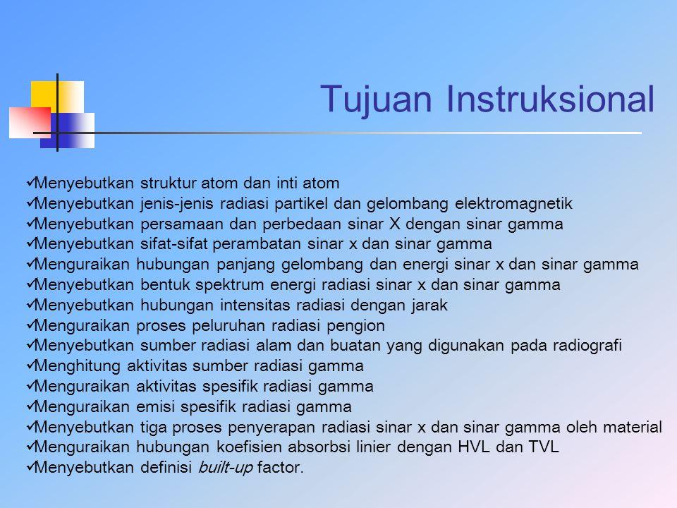 Tujuan Instruksional Menyebutkan struktur atom dan inti atom