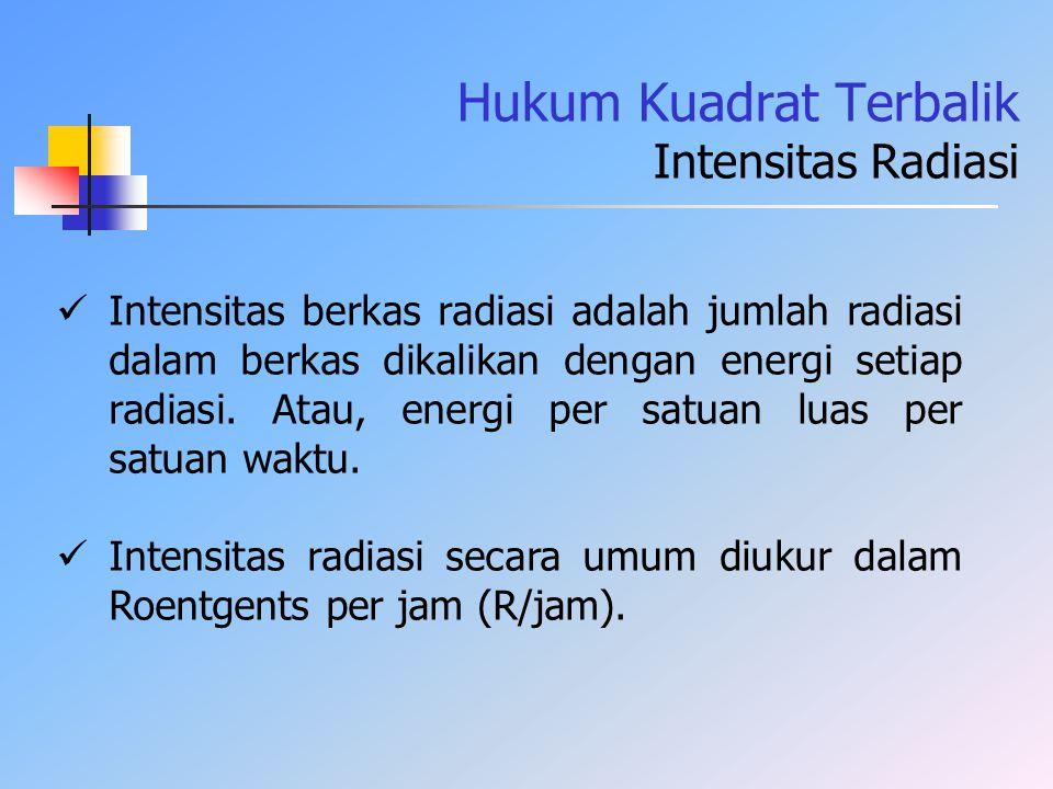 Hukum Kuadrat Terbalik Intensitas Radiasi