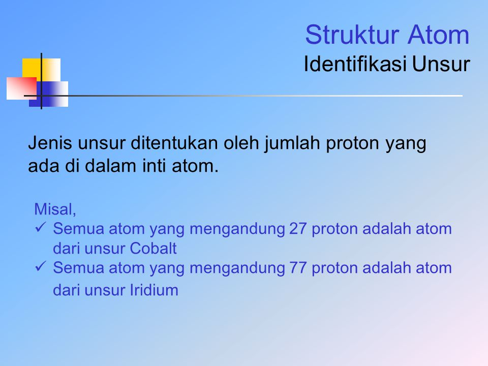 Struktur Atom Identifikasi Unsur