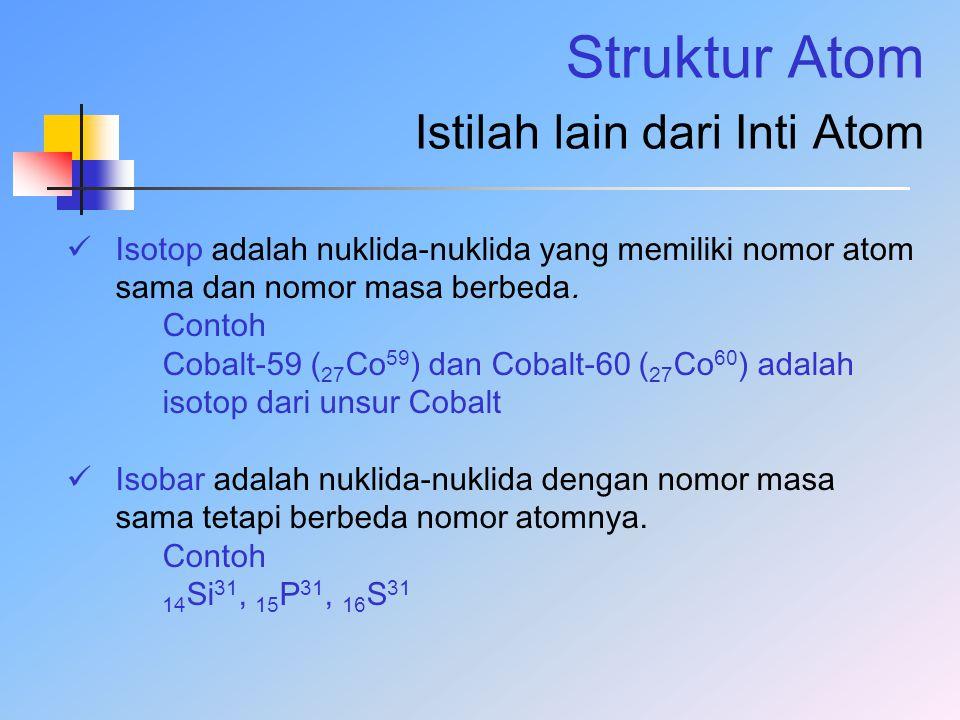 Struktur Atom Istilah lain dari Inti Atom