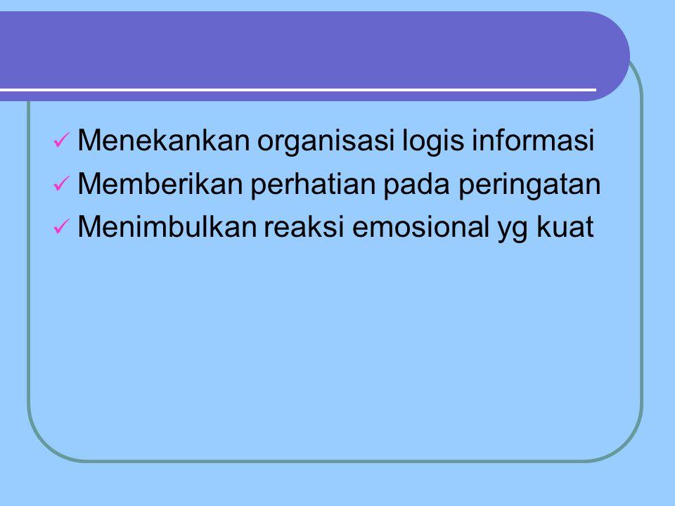Menekankan organisasi logis informasi