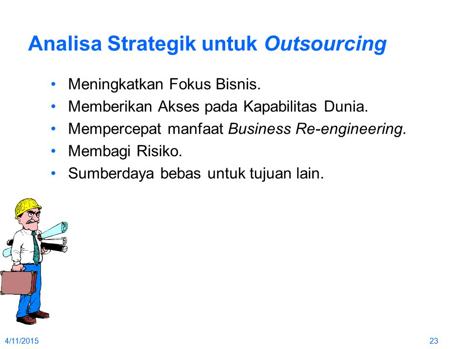 Analisa Strategik untuk Outsourcing
