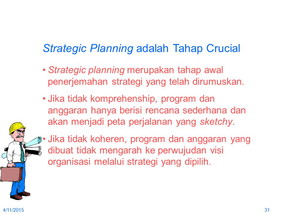 Strategic Planning adalah Tahap Crucial