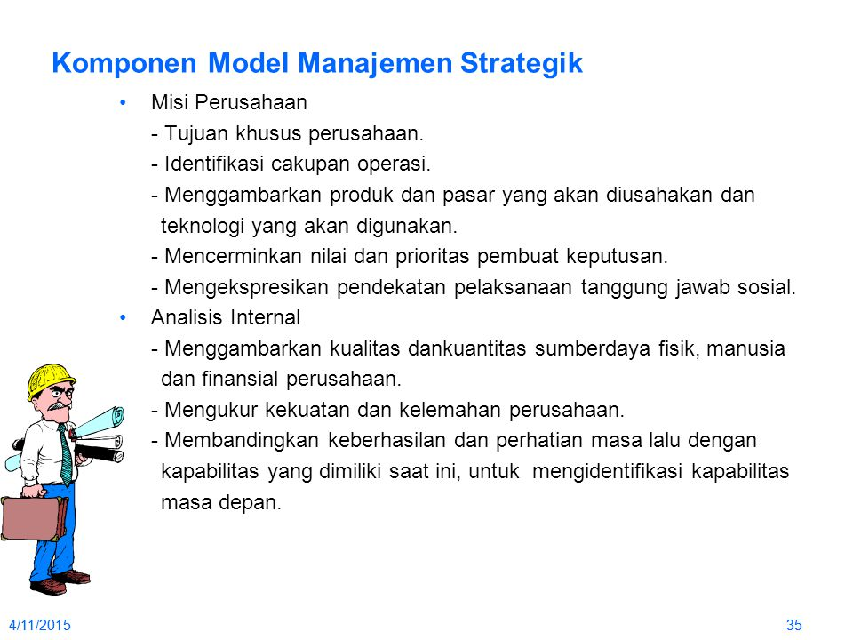 Komponen Model Manajemen Strategik
