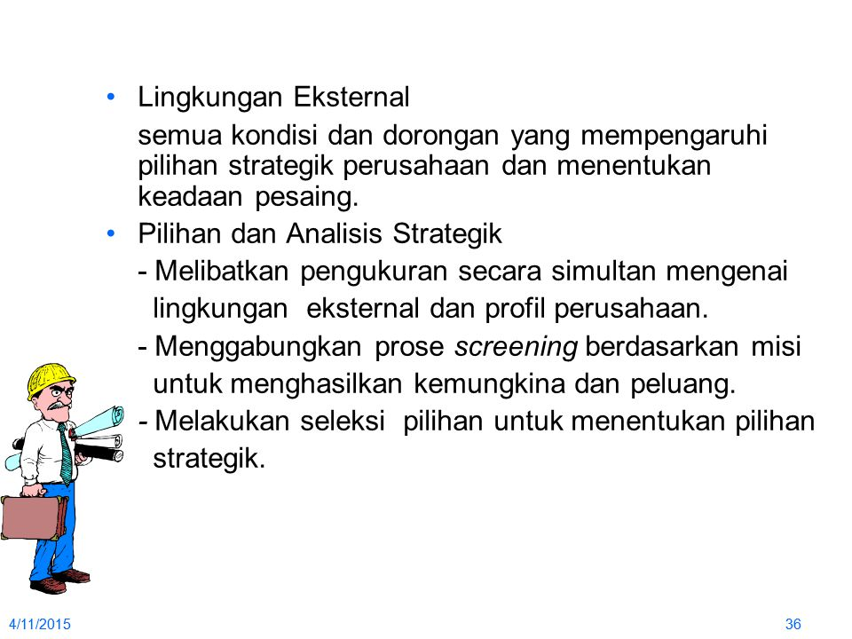 Pilihan dan Analisis Strategik