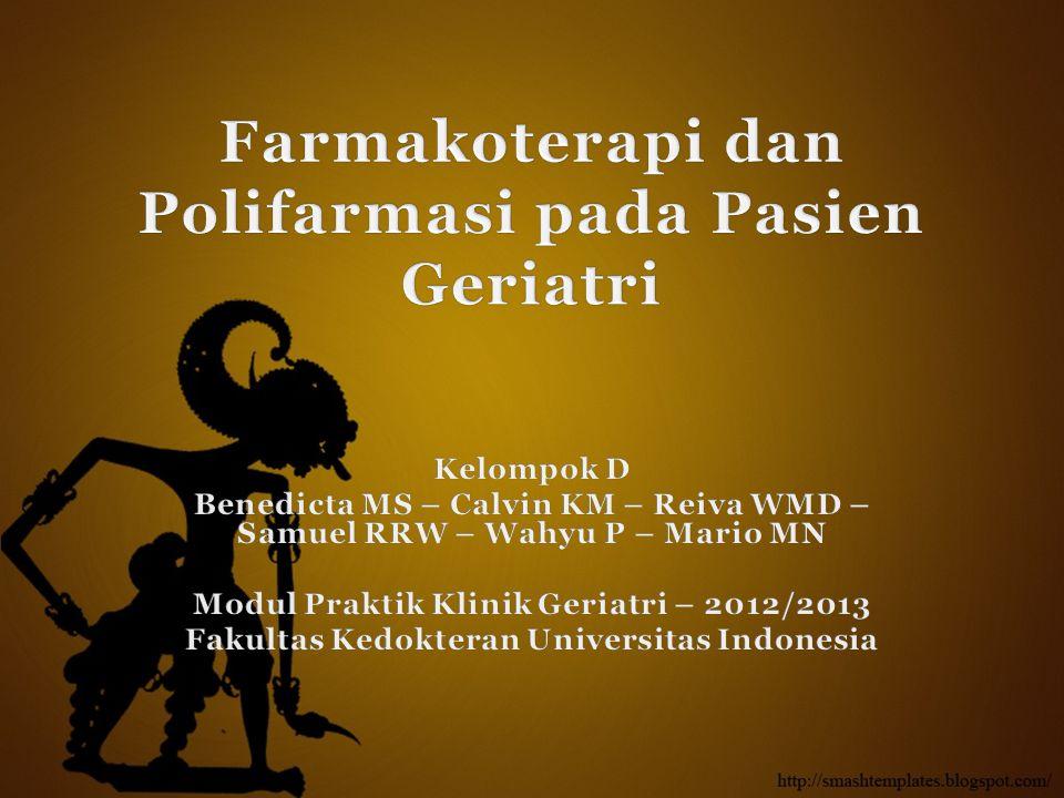 Farmakoterapi dan Polifarmasi pada Pasien Geriatri