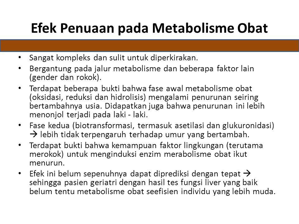 Efek Penuaan pada Metabolisme Obat