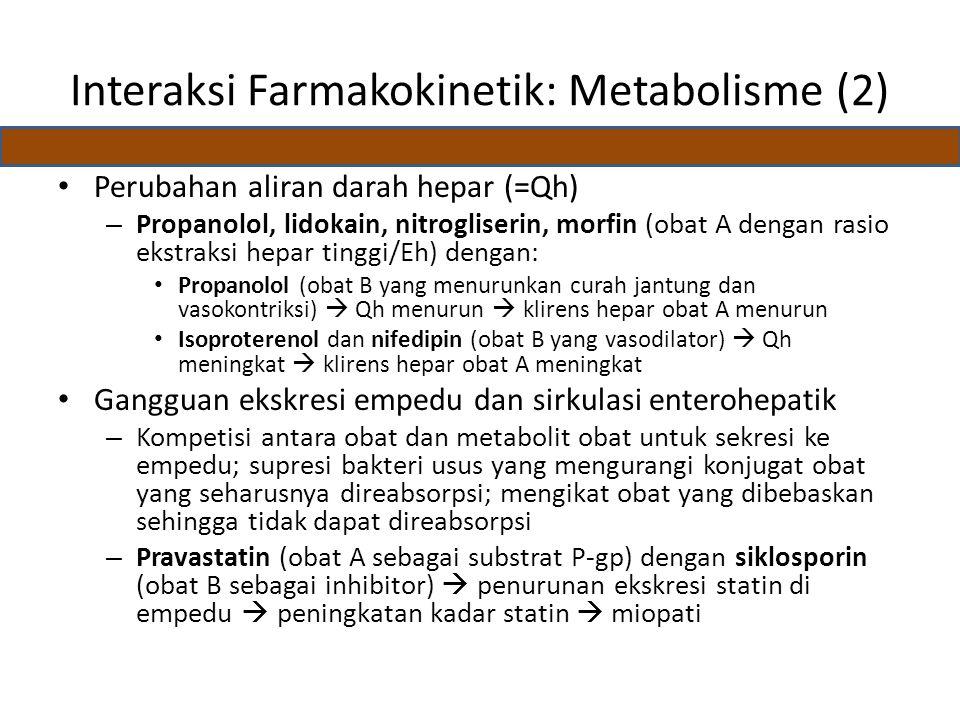Interaksi Farmakokinetik: Metabolisme (2)