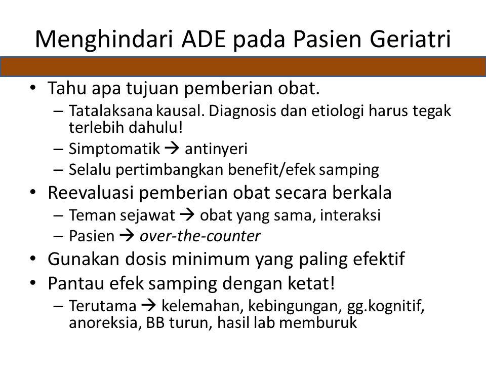 Menghindari ADE pada Pasien Geriatri