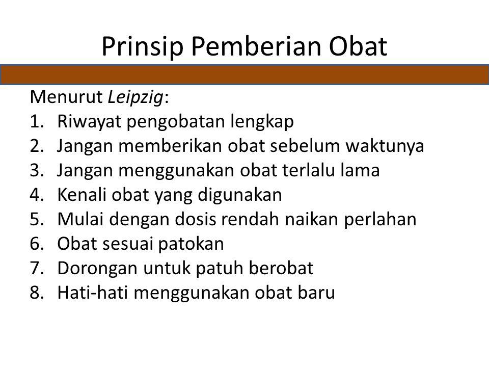 Prinsip Pemberian Obat