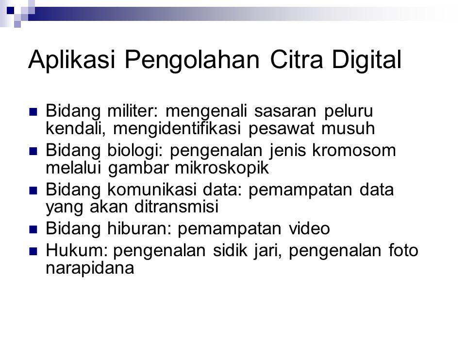 Aplikasi Pengolahan Citra Digital