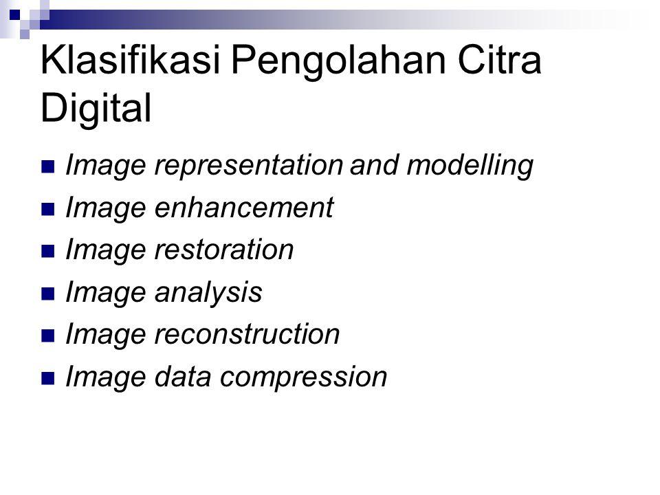 Klasifikasi Pengolahan Citra Digital
