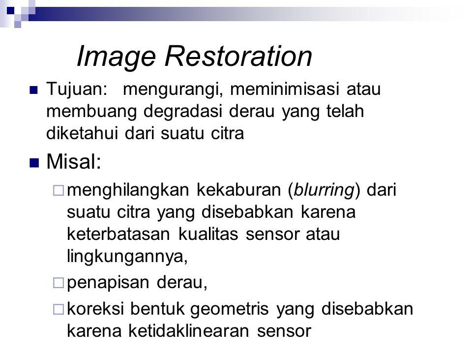 Image Restoration Misal: