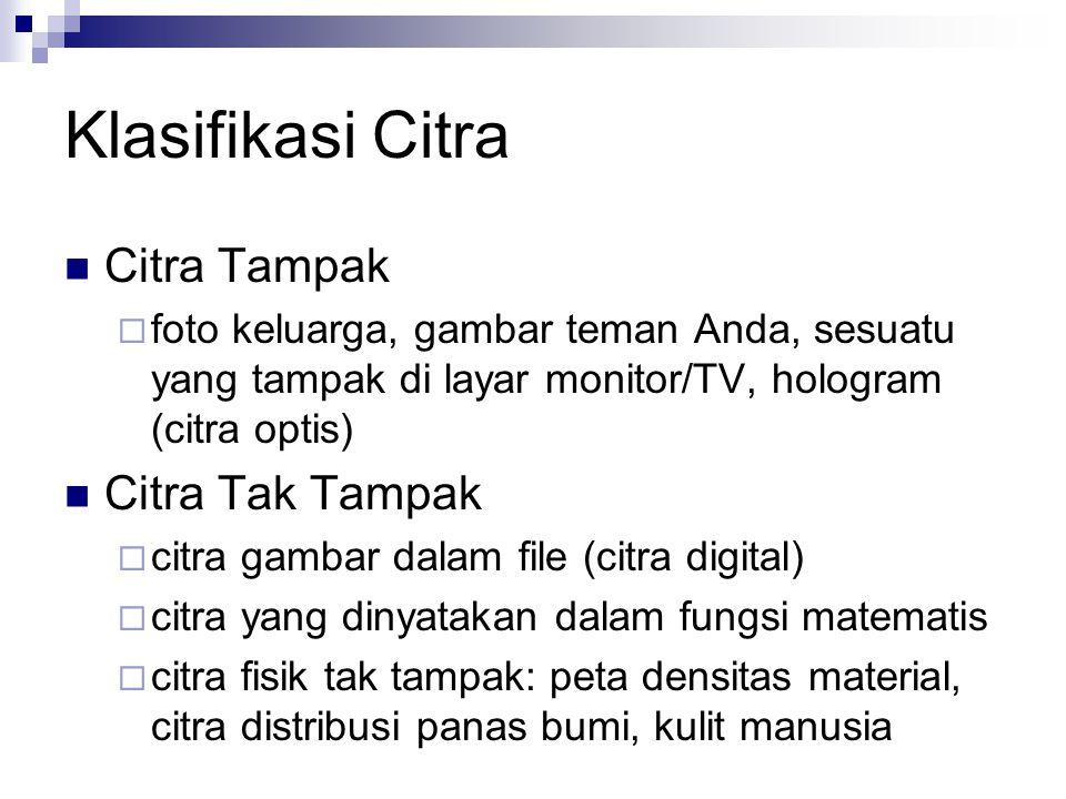 Klasifikasi Citra Citra Tampak Citra Tak Tampak