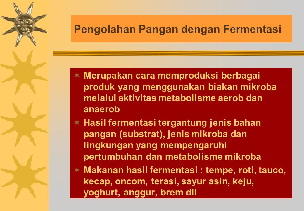 Pengolahan Pangan dengan Fermentasi