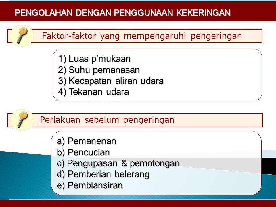 Faktor-faktor yang mempengaruhi pengeringan