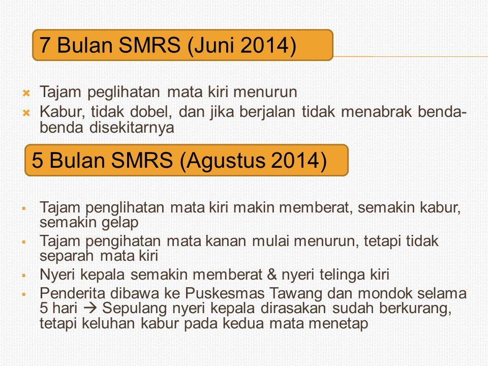 7 Bulan SMRS (Juni 2014) 5 Bulan SMRS (Agustus 2014)