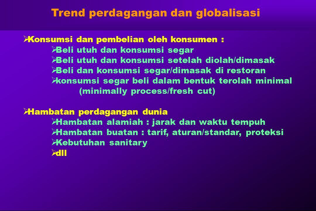 Trend perdagangan dan globalisasi