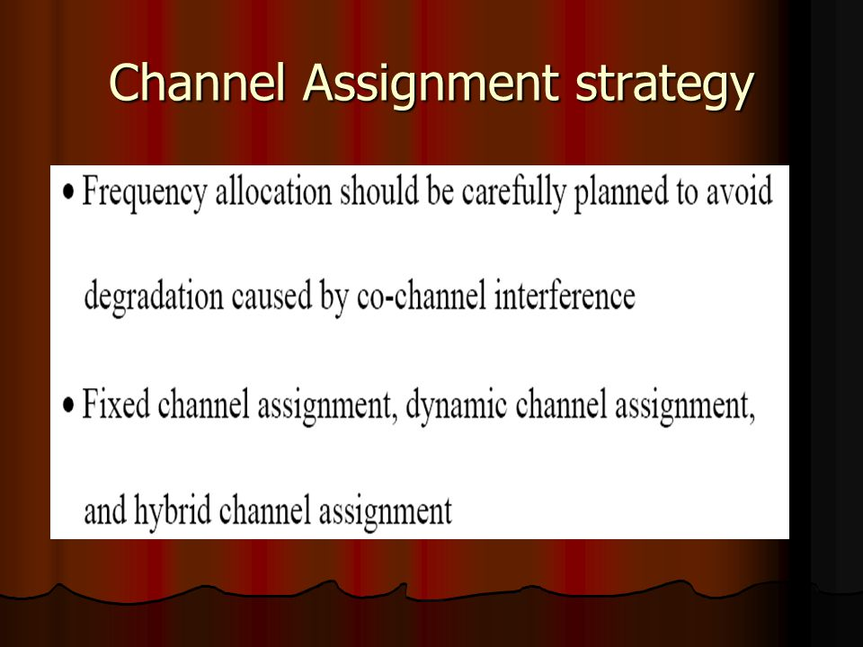Channel Assignment strategy