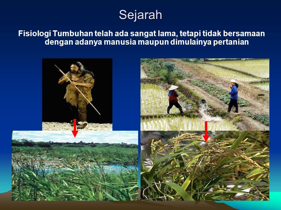 Sejarah Fisiologi Tumbuhan telah ada sangat lama, tetapi tidak bersamaan dengan adanya manusia maupun dimulainya pertanian.