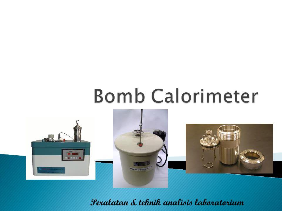 Bomb Calorimeter Peralatan & teknik analisis laboratorium