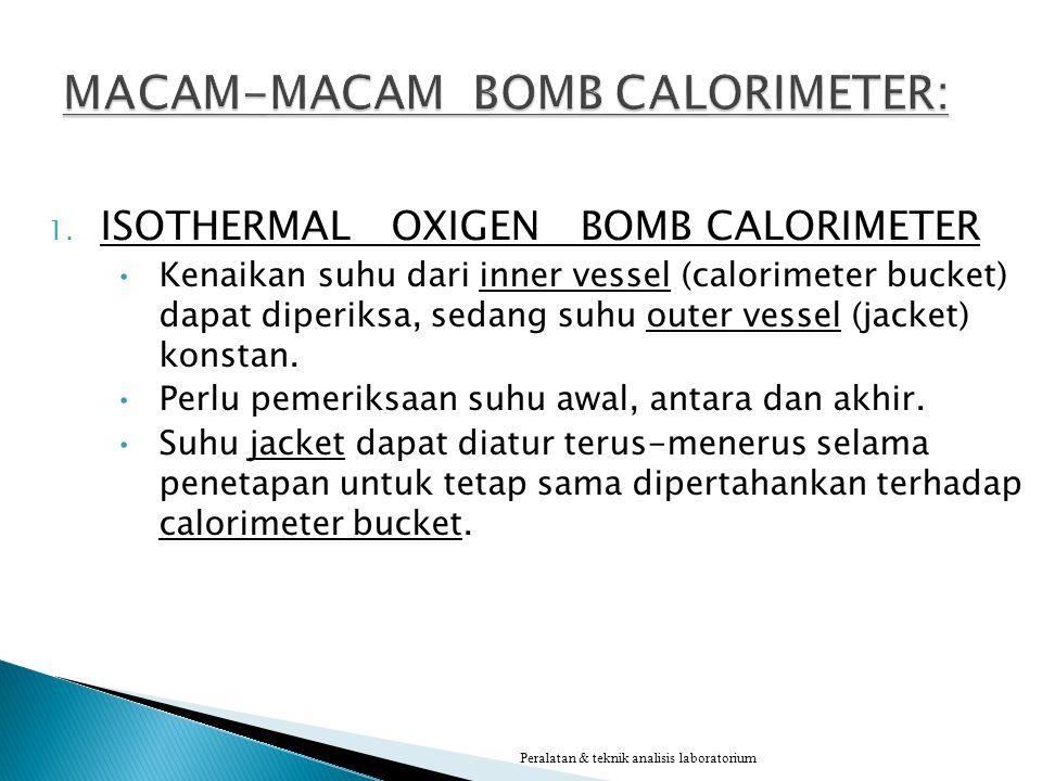 MACAM-MACAM BOMB CALORIMETER: