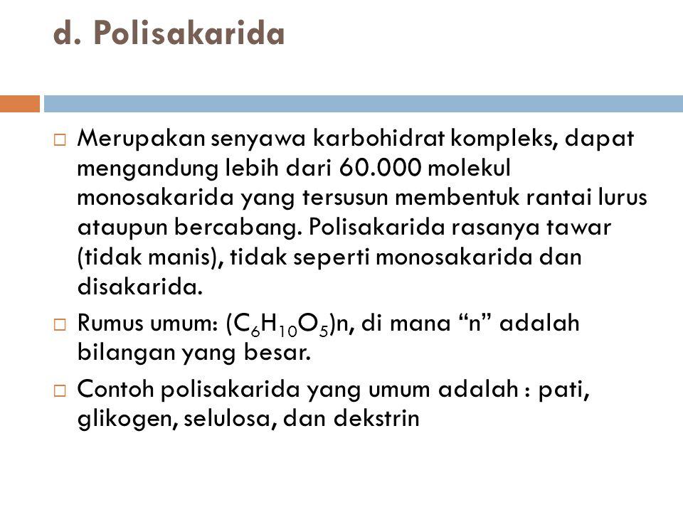 d. Polisakarida