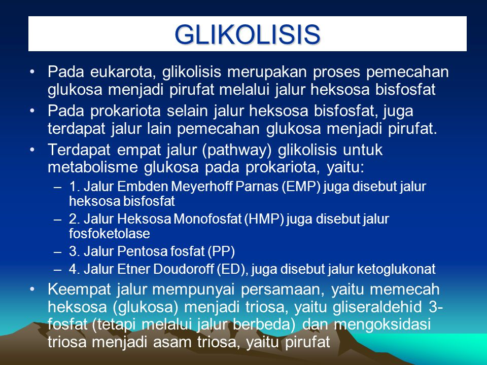 Secara umum metabolisme biomolekul terjadi pada dua tempat yaitu :