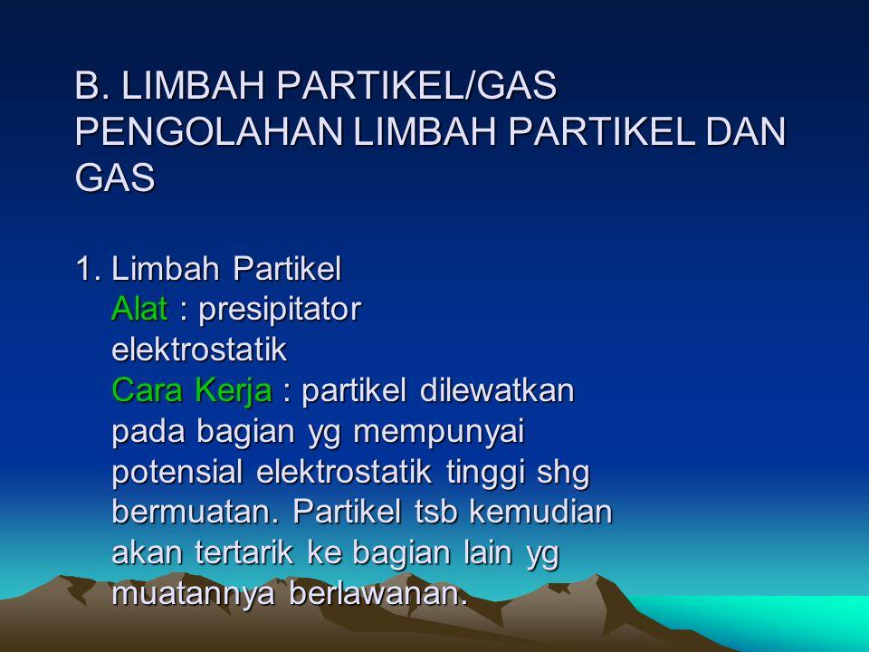 B. LIMBAH PARTIKEL/GAS PENGOLAHAN LIMBAH PARTIKEL DAN GAS 1