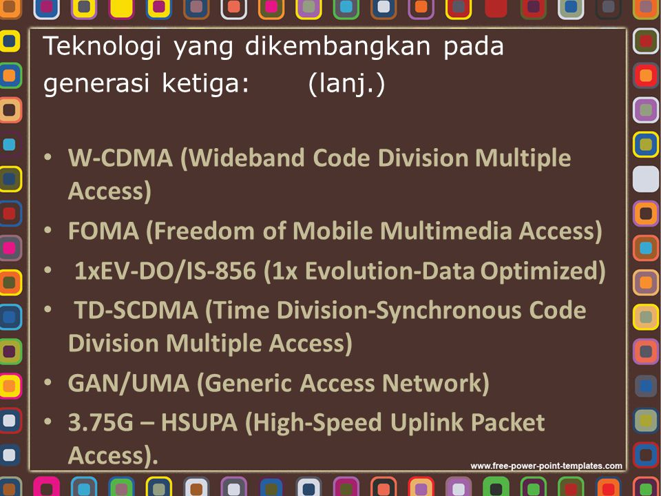 W-CDMA (Wideband Code Division Multiple Access)