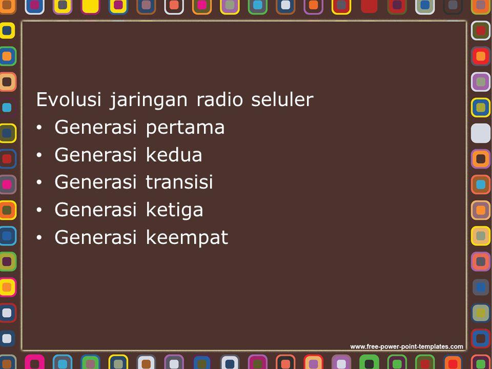 Evolusi jaringan radio seluler