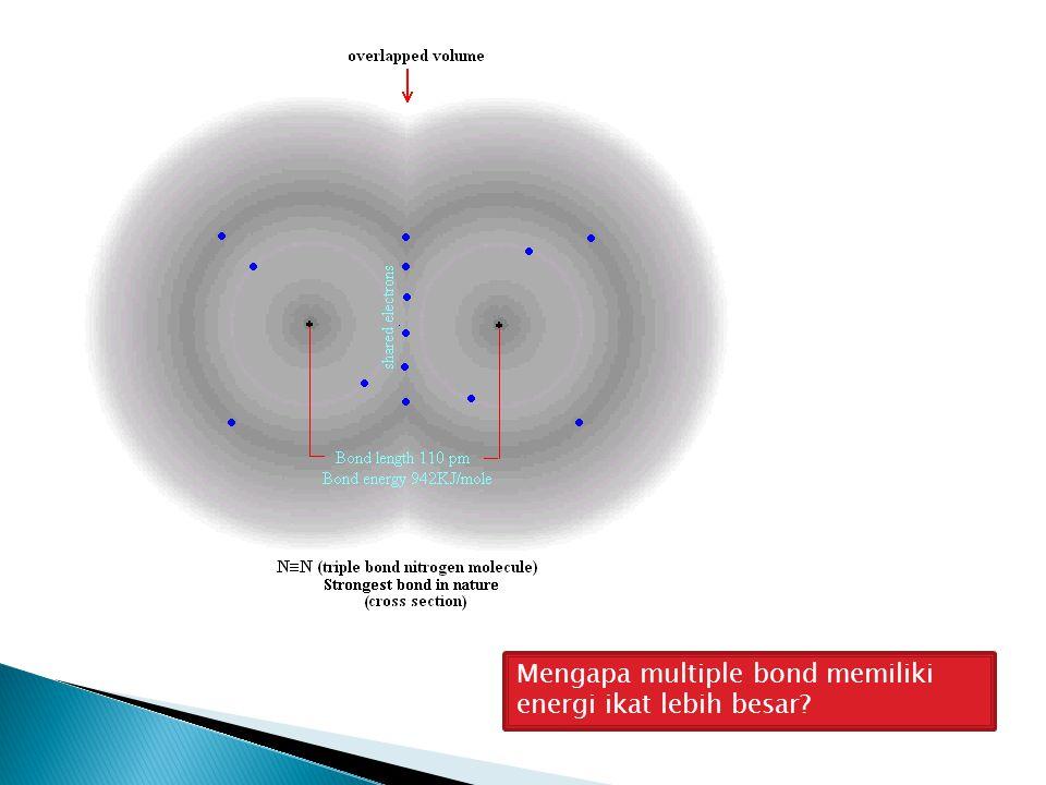 Mengapa multiple bond memiliki energi ikat lebih besar