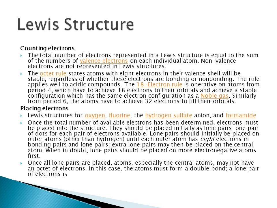 Lewis Structure Counting electrons
