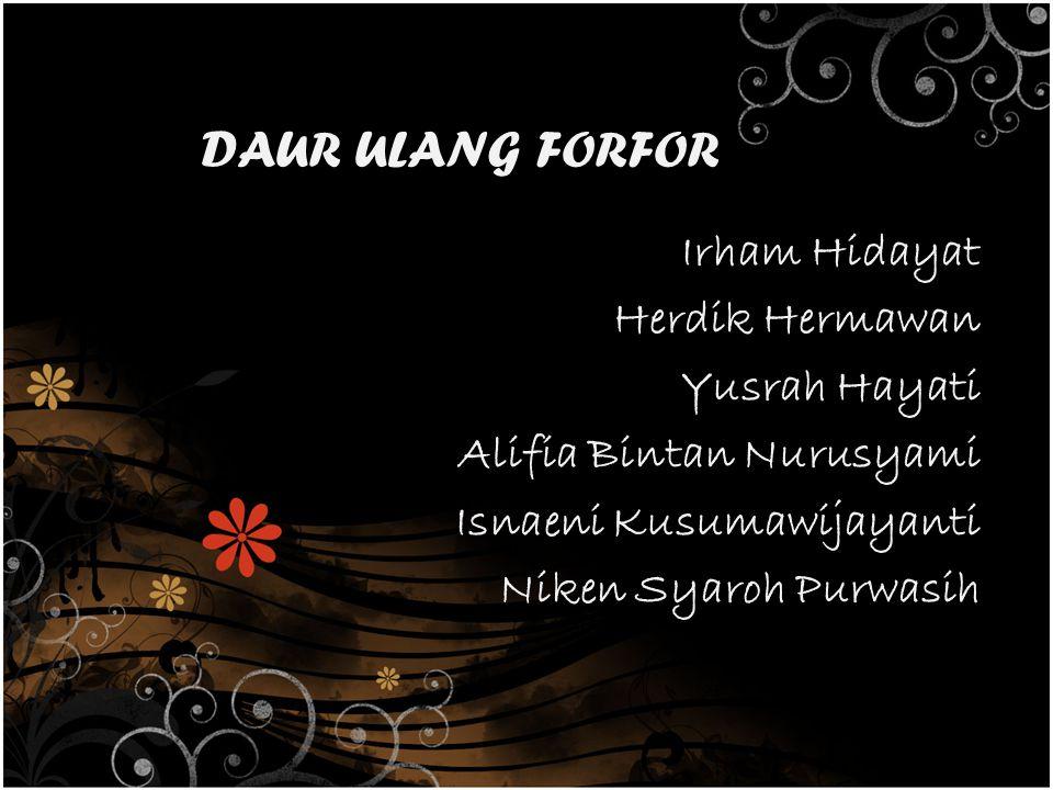 DAUR ULANG FORFOR Irham Hidayat Herdik Hermawan Yusrah Hayati