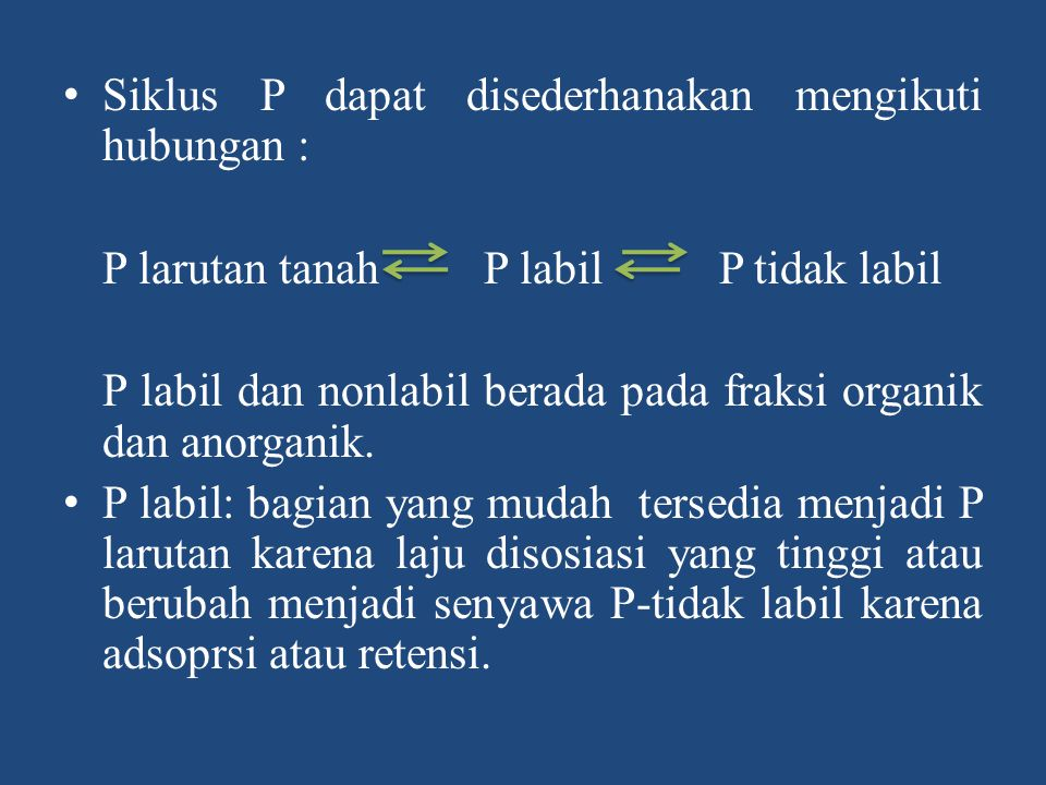 Siklus P dapat disederhanakan mengikuti hubungan :
