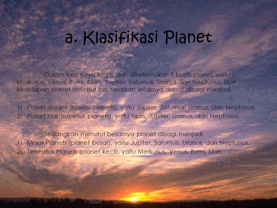 a. Klasifikasi Planet