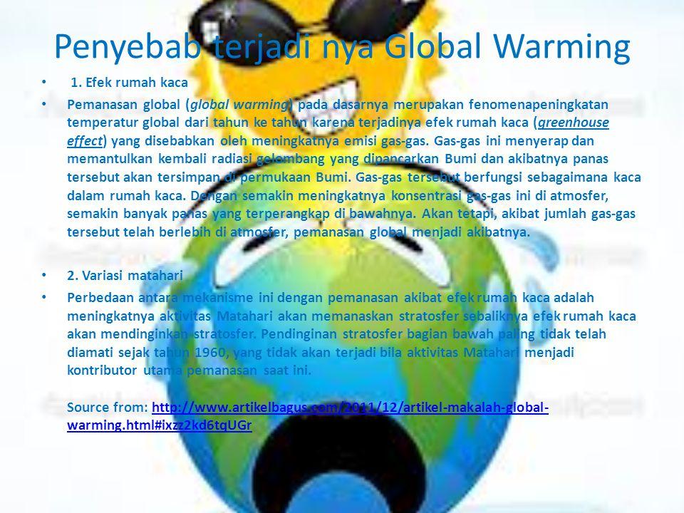 Penyebab terjadi nya Global Warming