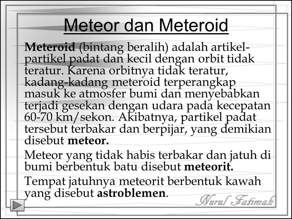 Meteor dan Meteroid