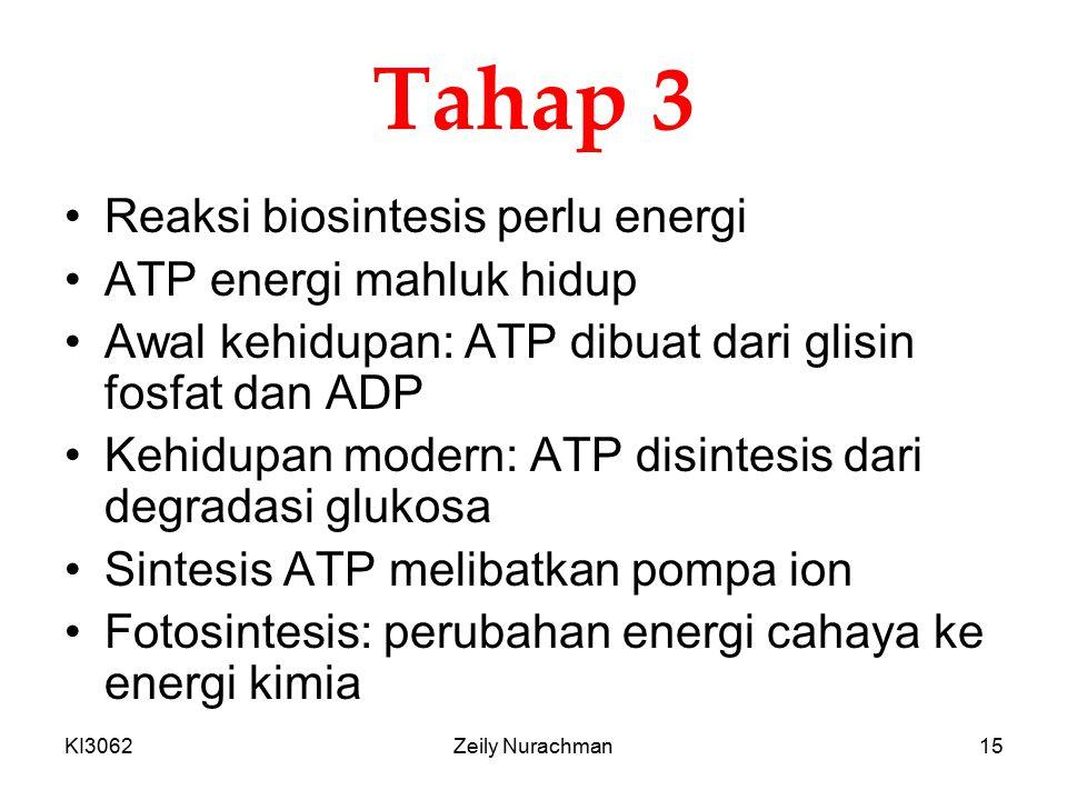 Tahap 3 Reaksi biosintesis perlu energi ATP energi mahluk hidup