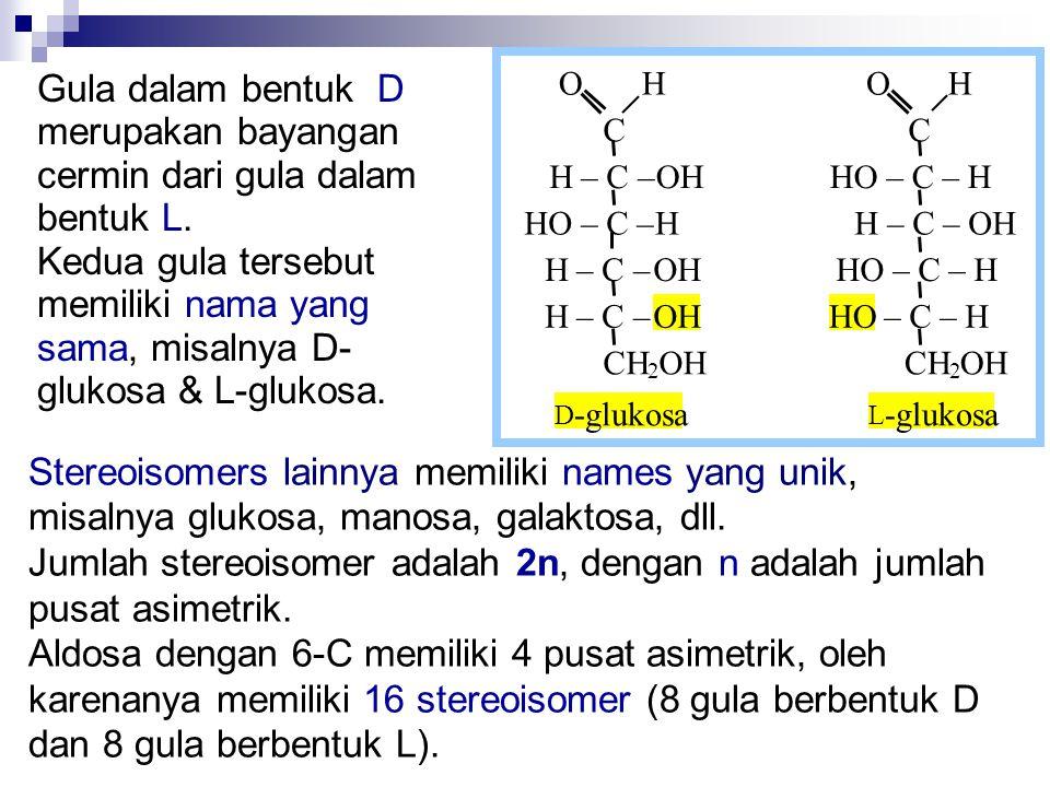 Stereoisomers lainnya memiliki names yang unik,