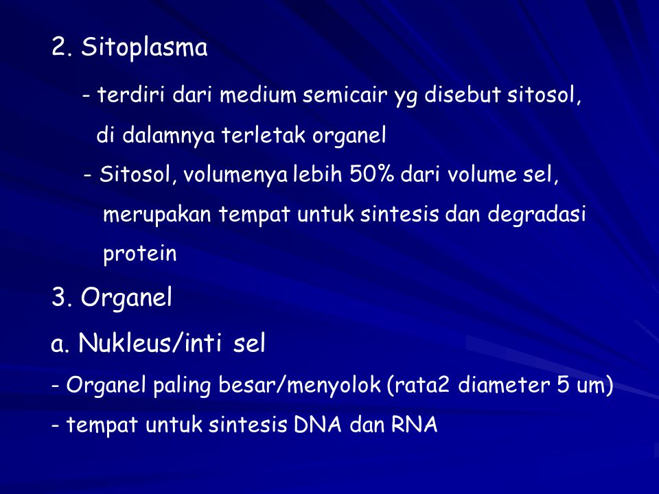 - terdiri dari medium semicair yg disebut sitosol,