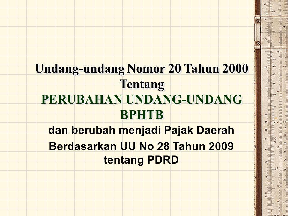 Undang-undang Nomor 20 Tahun 2000 Tentang PERUBAHAN UNDANG-UNDANG