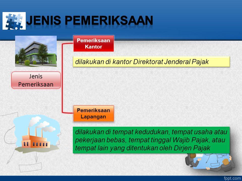 JENIS PEMERIKSAAN dilakukan di kantor Direktorat Jenderal Pajak