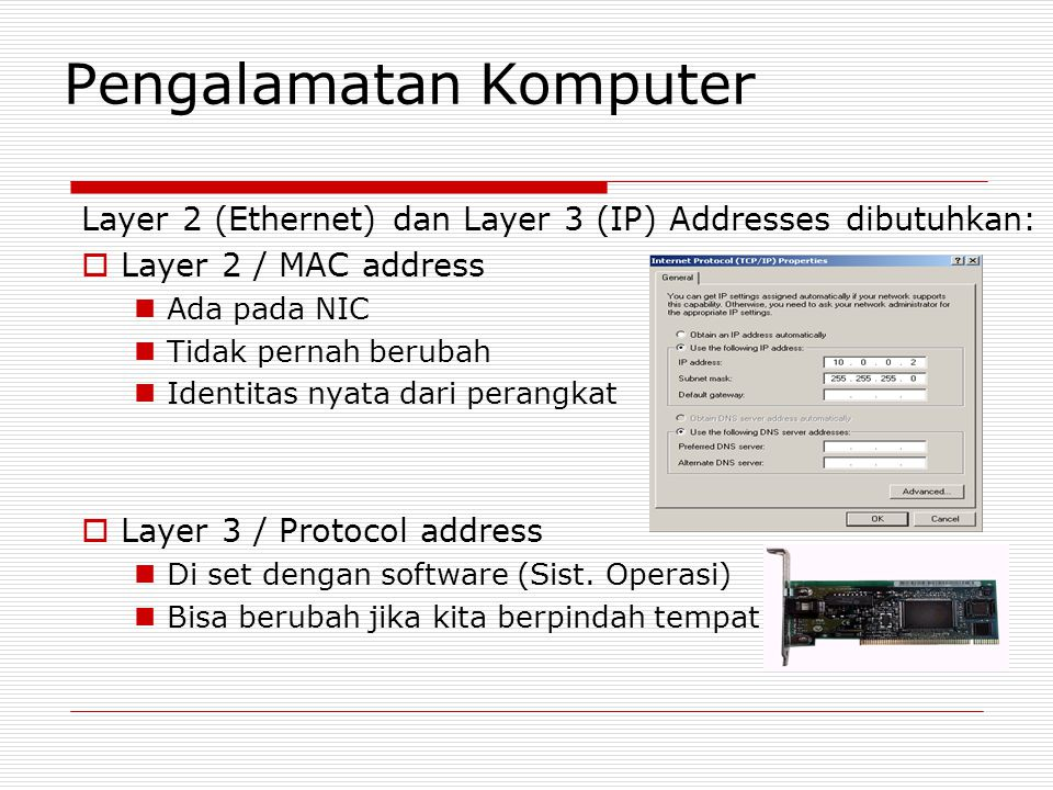 Pengalamatan Komputer